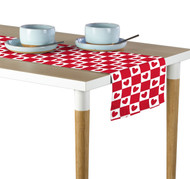 Checkmate Hearts Red Table Runner - Assorted Sizes