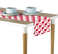Hearts Diagonal Stripe Table Runner - Assorted Sizes