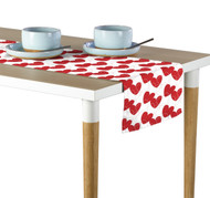 Bunches of Hearts Red Table Runner - Assorted Sizes