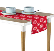 Hearts in Bloom Red Table Runner - Assorted Sizes