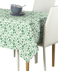 Shamrock Scroll White Signature Rectangle Tablecloths