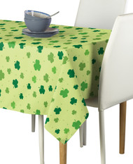 Tossed Shamrocks Green Signature Rectangle Tablecloths