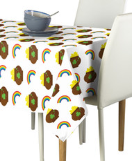 Pot of Gold Rainbows Milliken Signature Rectangle Tablecloths
