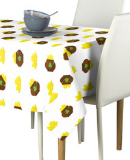 Pots of Gold White Milliken Signature Rectangle Tablecloths