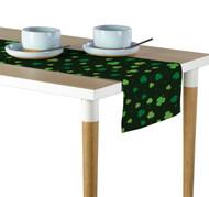 Tossed Shamrocks Deep Forest Green Table Runner - Assorted Sizes