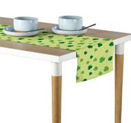 Tossed Shamrocks Green Table Runner - Assorted Sizes