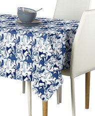 Marble Blue Marble Milliken Signature Rectangle Tablecloths