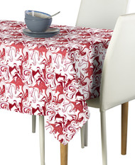Marble Red Marble Milliken Signature Rectangle Tablecloths