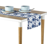 Marble Blue Marble Milliken Signature Table Runner - Assorted Sizes