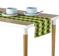 Green & Brown Argyle Plaid Milliken Signature Table Runner - Assorted Sizes