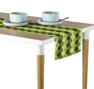Green & Brown Argyle Plaid Milliken Signature Table Runner - Assorted Sizes