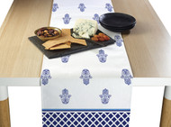 Hamsa White Milliken Signature Table Runner - Assorted Sizes