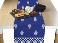 Hamsa Blue Milliken Signature Table Runner - Assorted Sizes