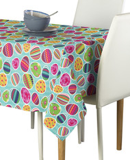 Vibrant Easter Eggs Blue Milliken Signature Rectangle Tablecloths
