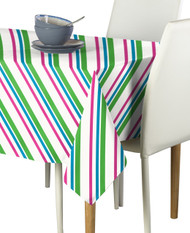 Spring Diagonal Stripe Milliken Signature Rectangle Tablecloths