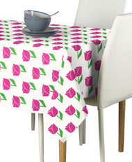 Spring Tulips Pink Milliken Signature Rectangle Tablecloths