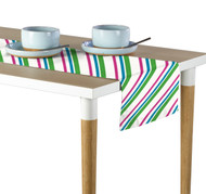 Spring Diagonal Stripe Milliken Signature Table Runner - Assorted Sizes