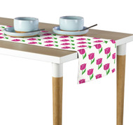 Spring Tulips Pink Milliken Signature Table Runner - Assorted Sizes