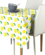 Spring Tulips Yellow Milliken Signature Rectangle Tablecloths