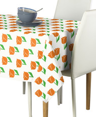 Spring Tulips Orange Milliken Signature Rectangle Tablecloths