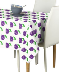 Spring Tulips Purple Milliken Signature Rectangle Tablecloths