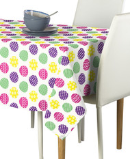 Colorful Fun Easter Eggs Milliken Signature Rectangle Tablecloths