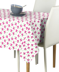 Pink Spring Flowers Milliken Signature Rectangle Tablecloths