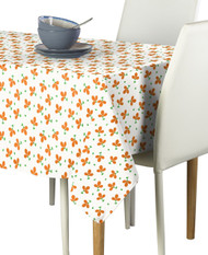 Orange Spring Flowers Milliken Signature Rectangle Tablecloths