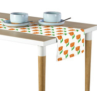 Spring Tulips Orange Milliken Signature Table Runner - Assorted Sizes