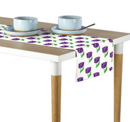 Spring Tulips Purple Milliken Signature Table Runner - Assorted Sizes