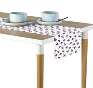 Purple Spring Flowers Milliken Signature Table Runner - Assorted Sizes