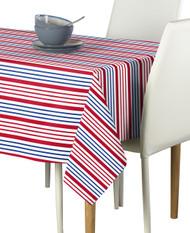 Red & Blue Multi Stripe Milliken Signature Rectangle Tablecloths