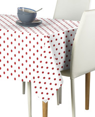 Red Nautical Dots Milliken Signature Rectangle Tablecloths