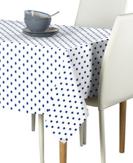 Blue Nautical Dots Milliken Signature Rectangle Tablecloths