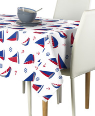 Sailboats Allover Milliken Signature Rectangle Tablecloths