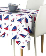 Sailboats Allover Milliken Signature Rectangle Tablecloths