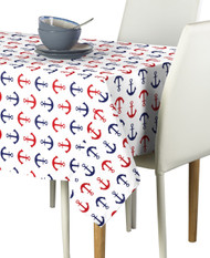 Red & Blue Anchors Milliken Signature Rectangle Tablecloths
