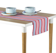 Red & Blue Multi Stripe Milliken Signature Table Runner - Assorted Sizes