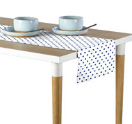 Blue Nautical Dots Milliken Signature Table Runner - Assorted Sizes