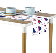 Sailboats Allover Milliken Signature Table Runner - Assorted Sizes