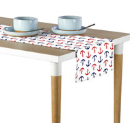 Red & Blue Anchors Milliken Signature Table Runner - Assorted Sizes