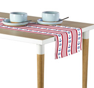 Nautical Red Stripe Anchors & Wheels Milliken Signature Table Runner - Assorted Sizes