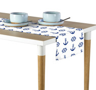 Nautical Anchors & Wheels White Milliken Signature Table Runner - Assorted Sizes
