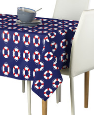 Life Saver Float Blue Milliken Signature Rectangle Tablecloths
