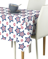Funky Stars Red & Blue Milliken Signature Rectangle Tablecloths