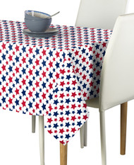 American Stars Red & Blue Milliken Signature Rectangle Tablecloths