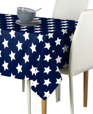 Freedom Stars Navy  Milliken Signature Rectangle Tablecloths