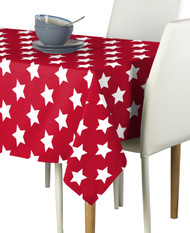 Freedom Stars Red  Milliken Signature Rectangle Tablecloths