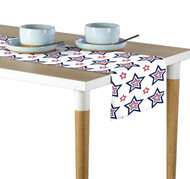 Funky Stars Red & Blue Milliken Signature Table Runner - Assorted Sizes
