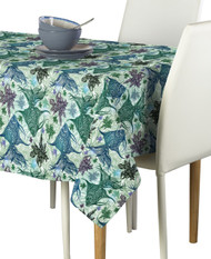 Paisley Fish Blue Signature Rectangle Tablecloths
